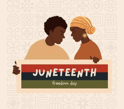 Happy Juneteenth graphic